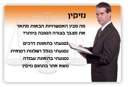 יש לך בעיה משפטית בנושא דיני נזיקין?